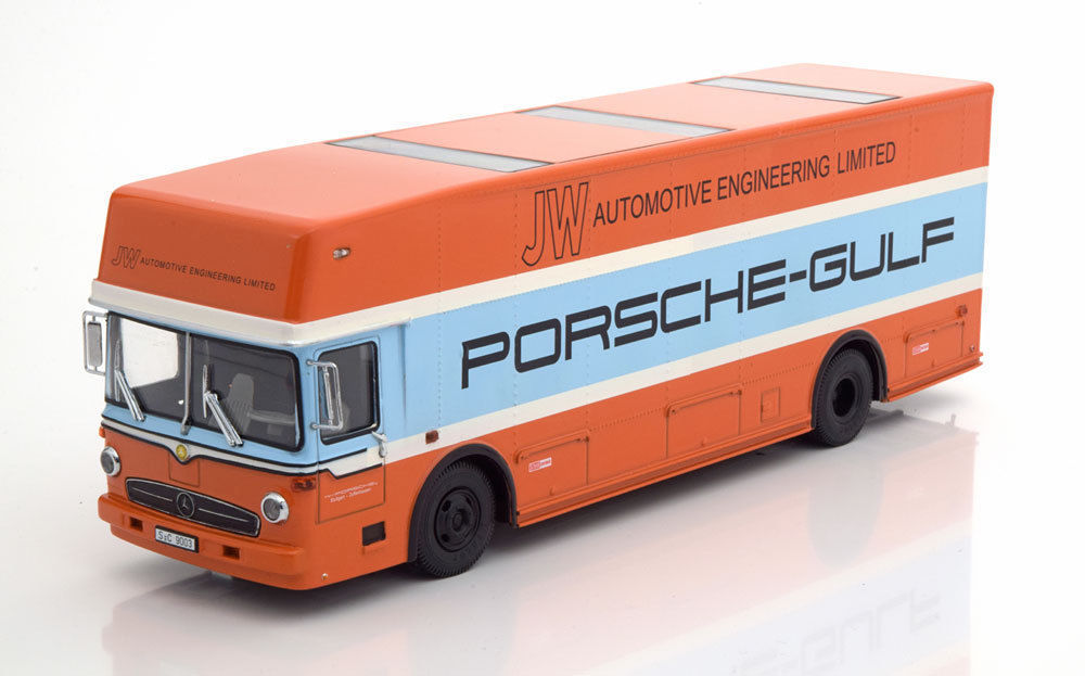 シュコー 1/43 メルセデスベンツ O 317 ポルシェ ガルフ レース トラック 1968 Mercedes-Benz O 317 Porsche Gulf Race Truck year 1968 J.W. Automotive Engineering