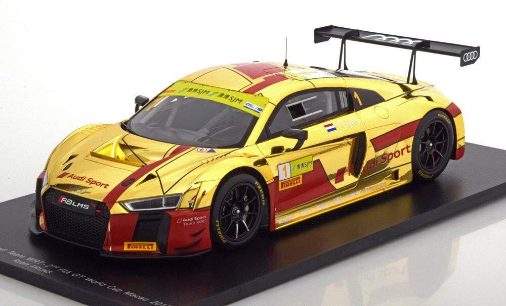 スパーク 1/18 アウディ R8 LMS TEAM アウディスポーツ WRT N 1 FIA WORLD GT CUP マカオ 2017 ゴールド レッド AUDI - R8 LMS TEAM AUDI SPORT WRT N 1 FIA WORLD GT CUP MACAU 2017 R.FRIJNS