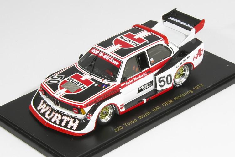 スパーク 1/43 BMW 320 Turbo Wuuml;rth HAT DRM Norisring Div. 2 1978 Manfred Winkelhock 400台限定 海外ショップ特注