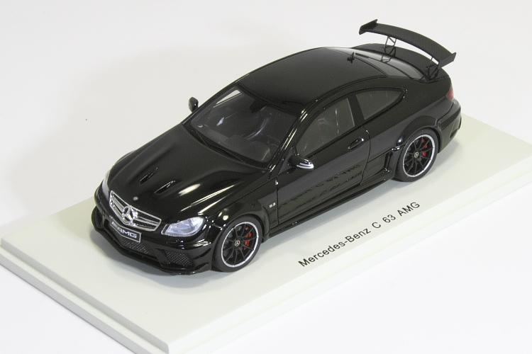 スパーク 1/43 メルセデス・ベンツ C63 AMG クーペ ブラック 2014 Mercedes-Benz C 63