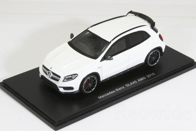 スパーク 1/43 メルセデス・ベンツ GLA45 AMG 2015 ホワイト