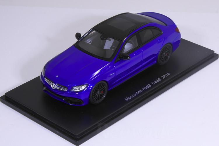 スパーク 1/43 メルセデス・ベンツ C63 S AMG 2016 ブルー C63S
