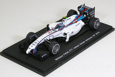 スパーク 1/43 Williams FW36 #77 Valtteri Bottas Malasia GP 2014