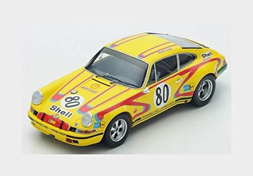 スパーク 1/18 ポルシェ 911S クレーマー ポルシェ レーシング チーム #80 24h ルマン 1972 J.FITZPATRICK E.KREMER YELLOW RED PORSCHE TEAM KREMER RACING N 80 24h LE MANS 1972 J.FITZPATRICK - E.KREMER