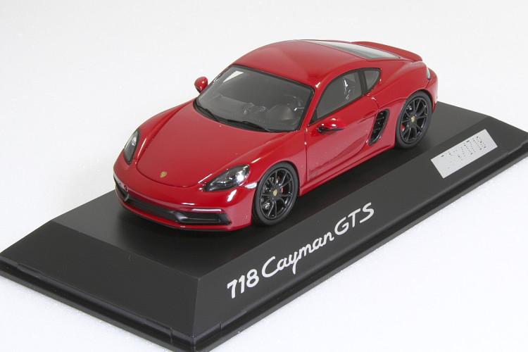 スパーク 特注 1/43 ポルシェ 718 ケイマン GTS 982 レッド 2017