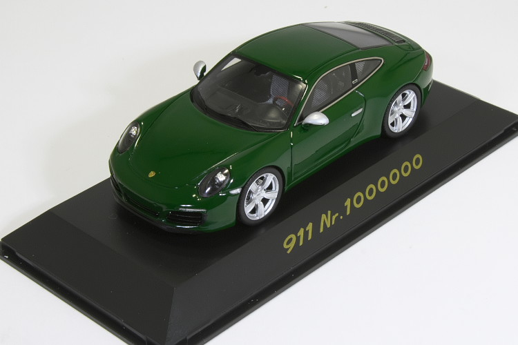 スパーク 特注 1/43 ポルシェ 911 (991-2) カレラ Carrera 1 Million 100万台 記念モデル アイリッシュグリーン Irish green