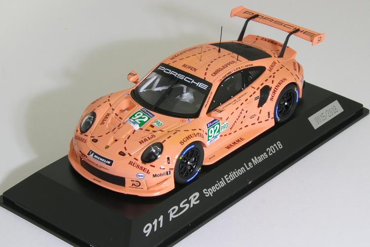 スパーク 特注 1/43 ポルシェ 911 (991) RSR #92 2018 ル・マン 24時間 Porsche 911 RSR ピンク Pig #92 winner 24h LeMans 2018 Porsche GT Team LM