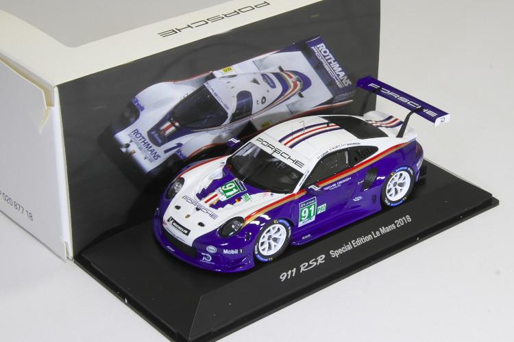非売品 スパーク 特注 1/43 ポルシェ 911 (991) RSR #91 2018 ル・マン 24時間 Porsche 911 RSR Rothmans Tribute #91 24h LeMans 2018 Porsche GT Team LM