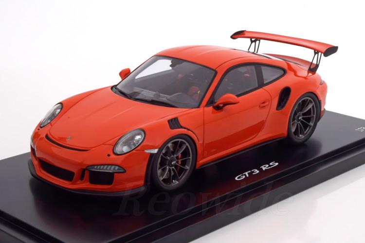 スパーク 1/18 ポルシェ 911 (991) GT3 RS オレンジ ポルシェ・ディーラー特注 モデル 300台限定