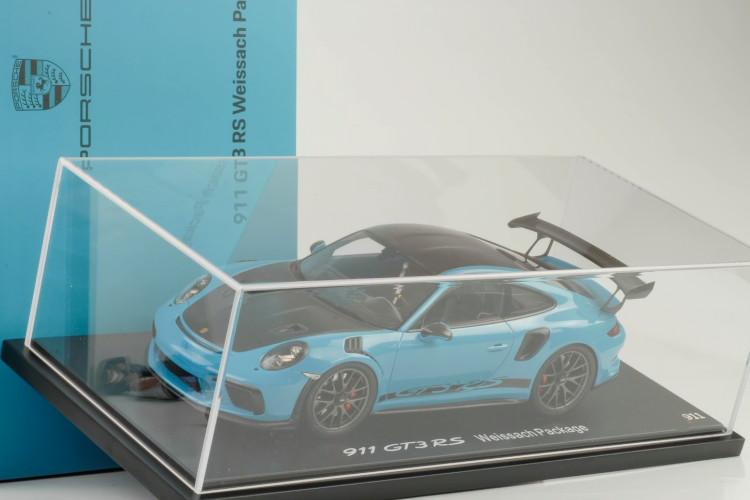 スパーク 1/18 ポルシェ 911 (991-2) GT3 RS ヴァイザッハパッケージ マイアミブルー 2018 with Weissach package Miami Blue予約商品になります。