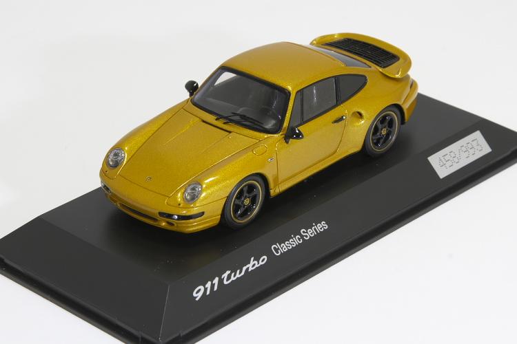 スパーク 特注 1/43 ポルシェ 911 (993) ターボ クラシック・シリーズ ゴールド 993台限定 Porsche 911 Turbo Classic Serie Project Gold