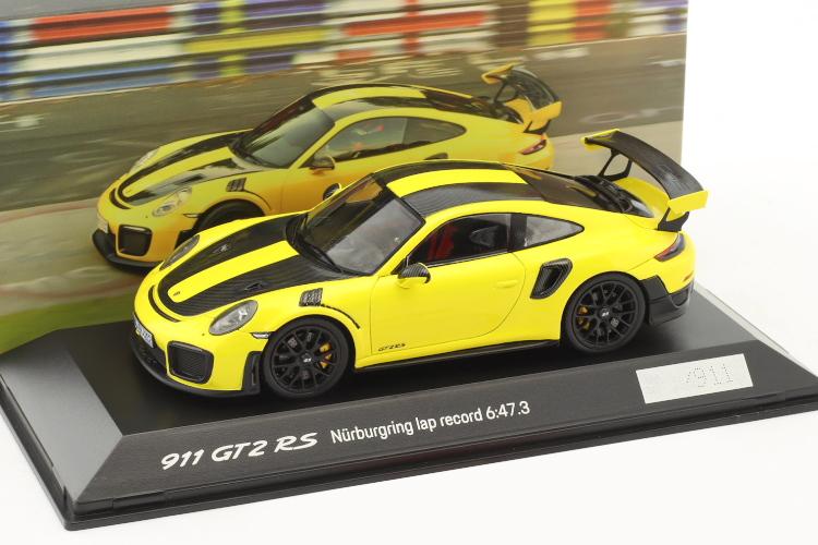 スパーク 特注 1/43 ポルシェ 911 (991-2) GT2 RS ニュルブルクリンク ラップレコード 2017 イエロー/ブラック 911台限定 lap record Nürburgring 2017 6:47,3 min