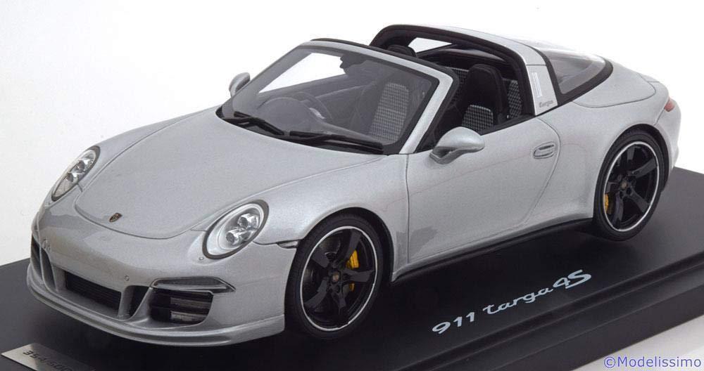 スパーク 1/18 ポルシェ 911 type 991 タルガ 4S 2015 Exclusive Mayfair Edition Great Britain シルバーグレー Porsche Targa
