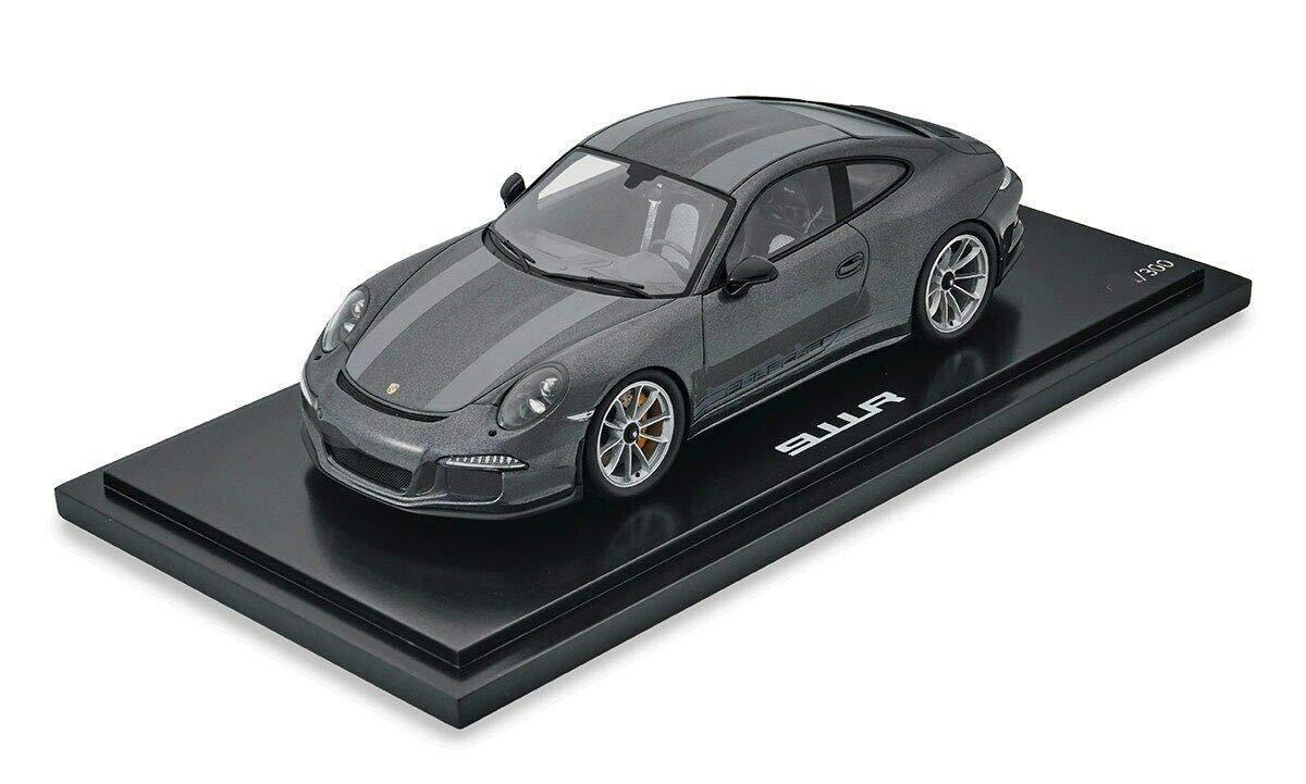 スパーク 1/18 ポルシェ 911 R 2016 Westminster grey / grey stripes Porsche