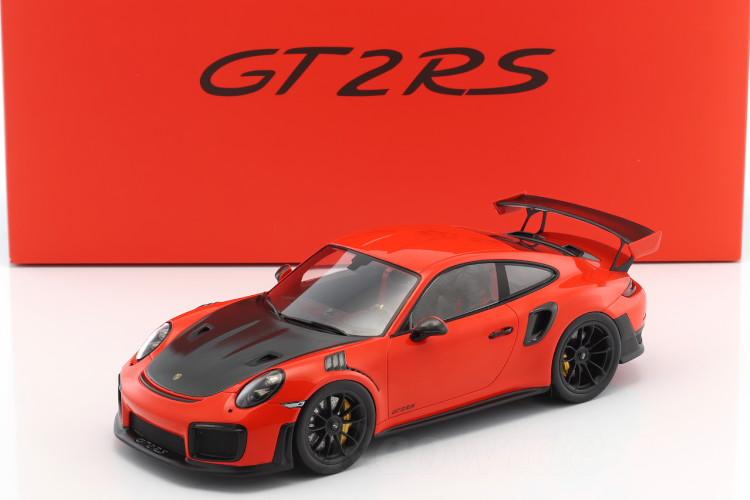 スパーク 特注 1/18 ポルシェ 911 (991-2) GT2 RS 2017 ラバオレンジ/グレー 500台限定