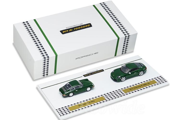 スパーク 特注 1/43 ポルシェ 911 901 991-2 カレラ S 2台セット 1963-2017 100万台達成記念モデル アイリッシュグリーン