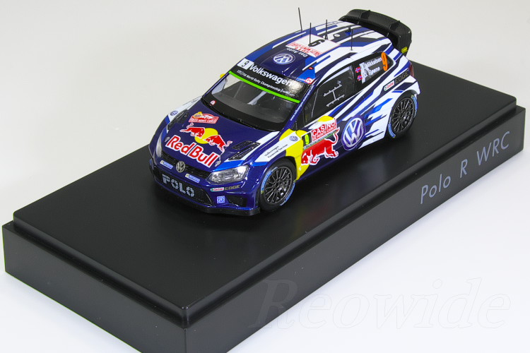 スパーク 1/43 VW特注 ポロ R WRC #9 2015 Mikkelsen / Floene