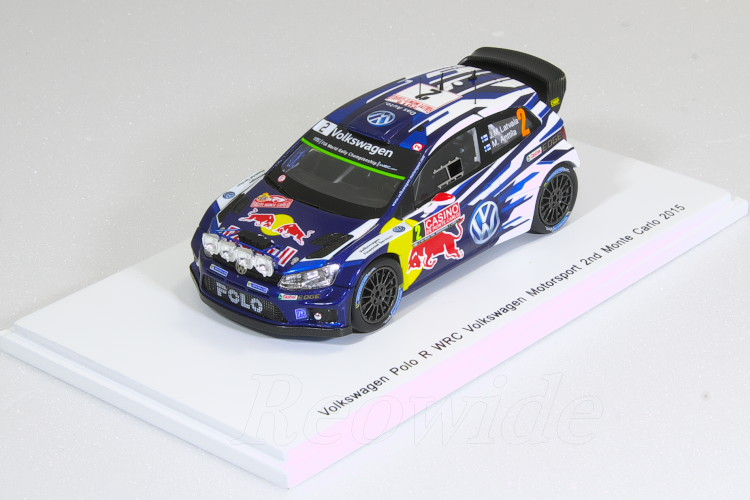 スパーク 1/43 VW ポロ R WRC #2 2015 モータースポーツ 2nd モンテカルロラリー Jari-Matti Latvala / Miikka Anttila