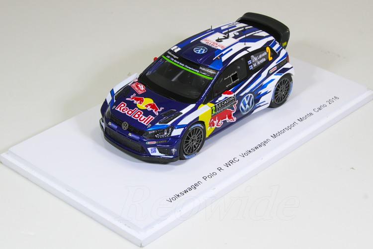 スパーク 1/43 VW ポロ R WRC #2 2016 モンテカルロラリー J.M.LATVALA - M.ANTILLA