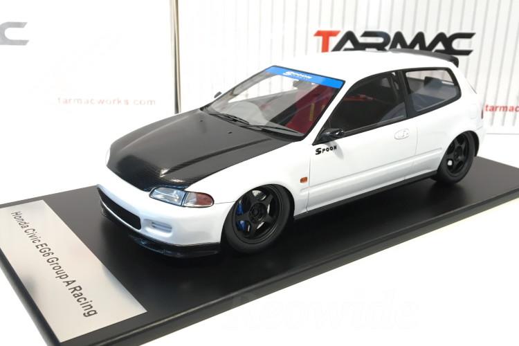 TARMAC WORKS 1/18 ホンダ スプーン シビック EG6 ホワイト ブラックボンネットTarmac Works 1/18 Spoon Honda Civic EG6 (White with Black Bonnet)