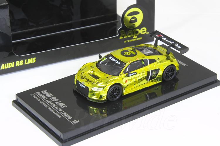 TARMAC 1/64 アウディ R8 LMS GT アジア 2016 岡山 ラウンド6 Aape By A Bathing Ape Bape Audi R8 LMS Gold