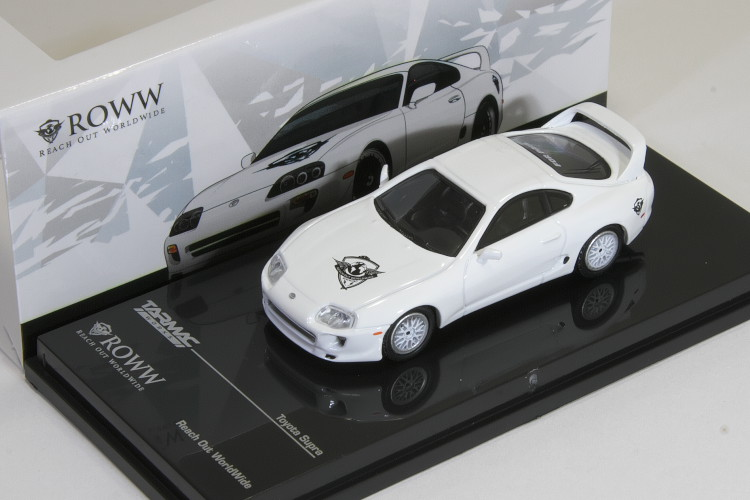 TARMAC Works 1/64 トヨタ スープラ JZA80 ROWW 限定モデルToyota Supra Reach Out Worldwide
