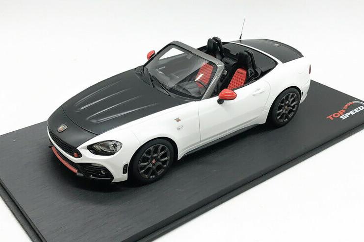 TSM TRUE SCALE miniatures 国内即発送 1 18 驚きの価格が実現 フィアット 124 アバルト BLACK FIAT ブラック スパイダー ABARTH 2016 White ホワイト SPIDER