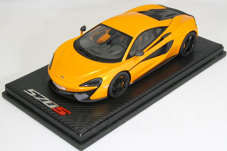 テクノモデル 1/18 マクラーレン 570S クーペ オレンジメタリック ニューヨークオートショー 2015 50台限定