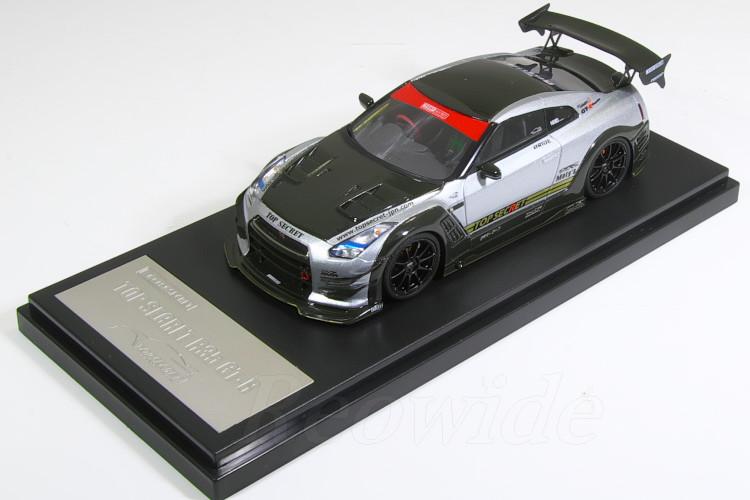 タイガーゲートジャパン 1/43 トップシークレット R35 GT-R TSシルバー NISSAN TOP SECRET R35 GT-R