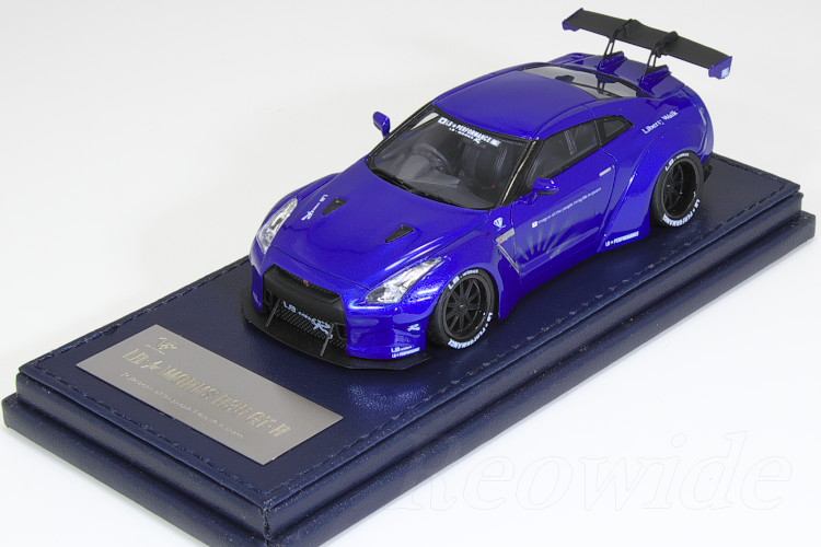 タイガーゲートジャパン 1/43 LB★WORKS R35 GT-R メタリック ブルー