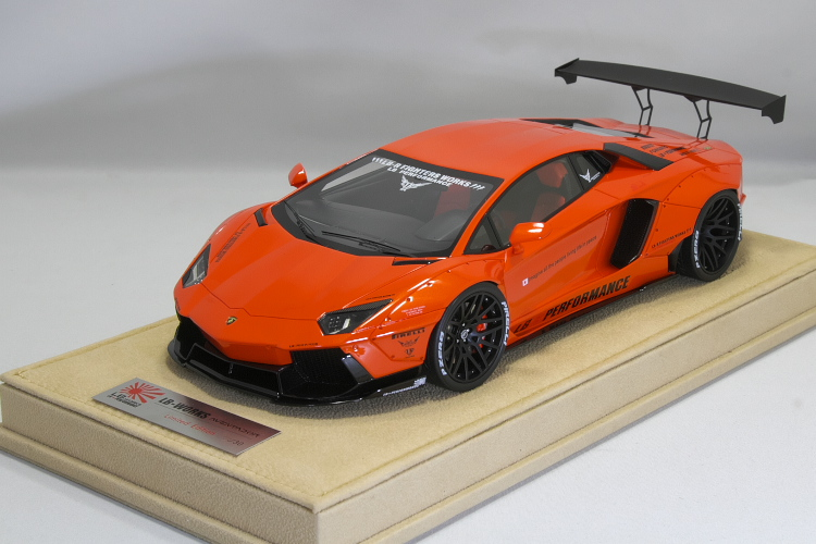 Liberty Walk 1/18 LB★WORKS ランボルギーニ アヴェンタドール 30台限定 Lamborghini Aventador Liberty Walk LB Performance Orange