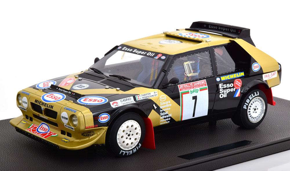 1/12 No S4 デルタ Tabaton/Tedeschini 1986 Lancia Sanremo サンレモラリー ランチア Esso Delta Rally #7 7 TOPMARQUES