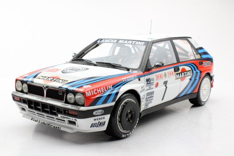 TOPMARQUES 1/12 ランチア デルタ HF インテグラーレ 16V 1990 #7 モンテカルロ 優勝 Lancia Delta 16V Integrale Winner Monte Carlo 1990 2020年2月発売 予約受付中