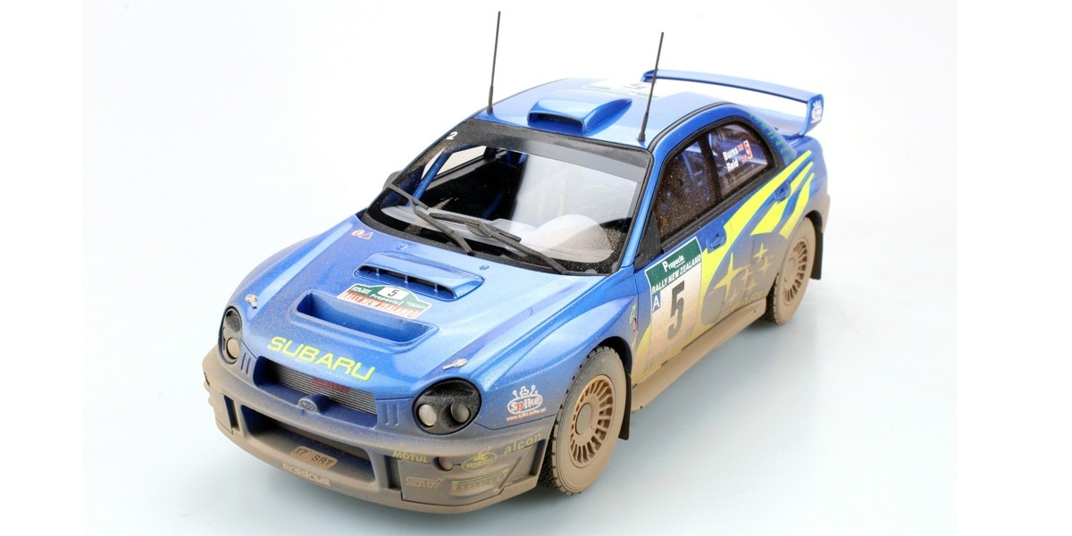 TOPMARQUES 1/18 スバル インプレッサ WRC #5 ニュージーランドラリー2001 優勝 DIRTY VERSION SUBARU IMPREZA WRC N 5 RALLY WINNER NEW ZEALAND 2001 R.BURNS R.REID DIRTY VERSION