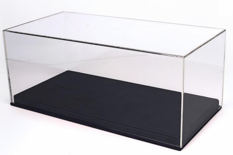 BBR 1/18用 プレキシガラス製 ブラックレザーベース ディスプレイケース フェラーリ・ランボルギーニ・マセラティ ボックス 透明ケース