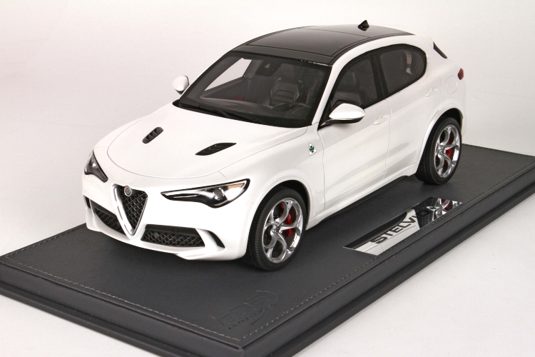 BBR 1/18 アルファ・ロメオ ステルヴィオ Q4 クアドリフォリオ ホワイト 50台限定ALFA ROMEO Stelvio Quadrifolio White Alfa ケースなし