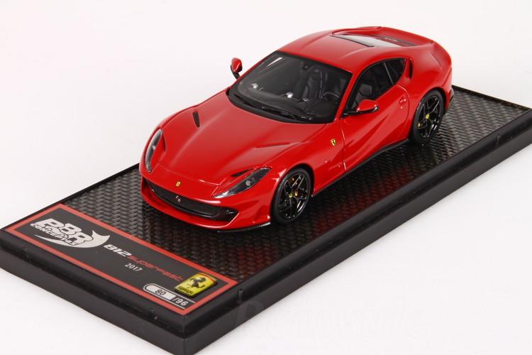 BBR 1/43 フェラーリ 812 スーパーファスト レッド ブラックホイール 96台限定 Ferrari 812 Superfast red Corsa 322 gloss black wheels