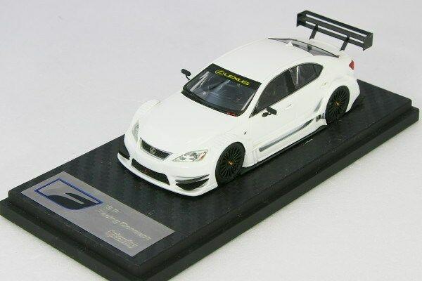<中古品>hpi 1/43 レクサス IS F レーシング コンセプト ホワイト Lexus ISF Racing Concept