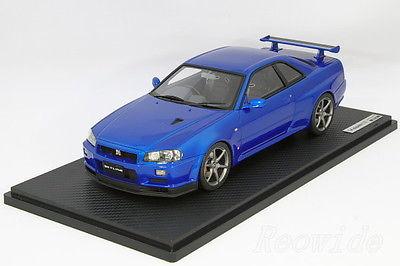 イグニッション 1/18 日産 R34 スカイライン GT-R V Spec ll ベイサイドブルー 60台限定 IG0237