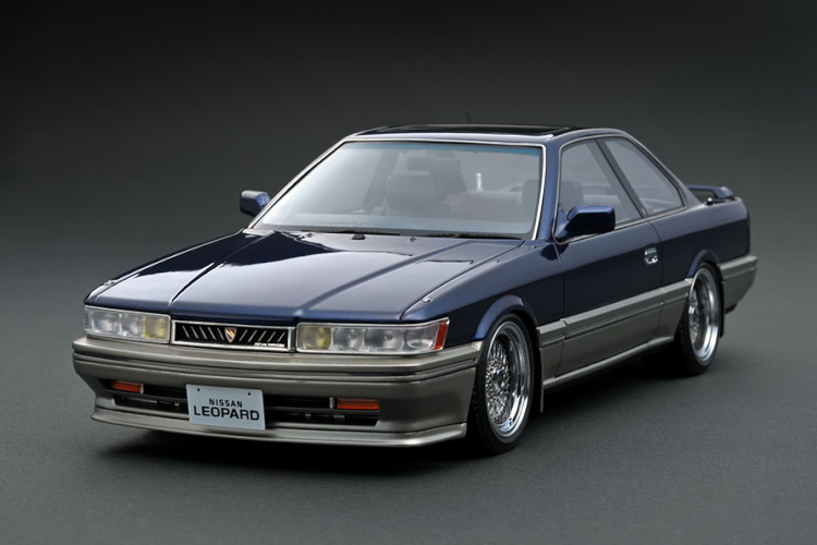 イグニッション 1/18 日産 レパード 3.0 アルティマ F31 ブルー ignition Nissan Leopard 3.0 Ultima BBS Wheels
