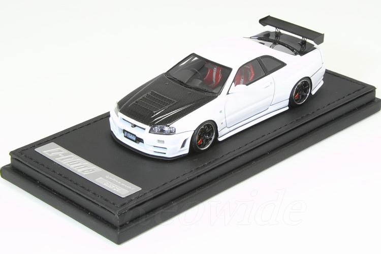 イグニッション 1/43 ニスモ R34 GT-R Z-tune ホワイト / カーボンボンネット 日産 スカイライン
