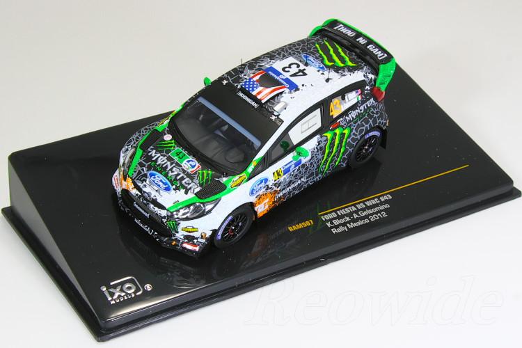 イクソ 1/43 フォード フィエスタ RS WRC #43 ラリー メキシコ 2012 ケン・ブロック モンスター