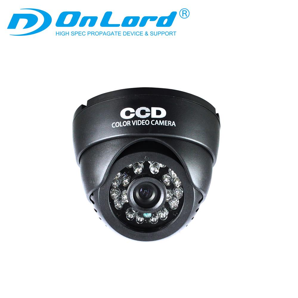 SDカード録画 防犯カメラ ドーム型 (OL-024) SDカード録画 録画装置内蔵 リモコン付 外部電源 屋内 赤外線 暗視カメラ 24時間常時録画 外部出力 監視カメラ オンロード OnLord 防犯対策