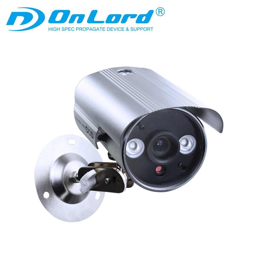 オンロード(OnLord) SDカード防犯カメラ 録画装置内蔵 USB接続 屋外 赤外線暗視カメラ ハウジング型 OL-028 強力赤外線LED 防滴仕様 24時間常時録画 監視カメラ