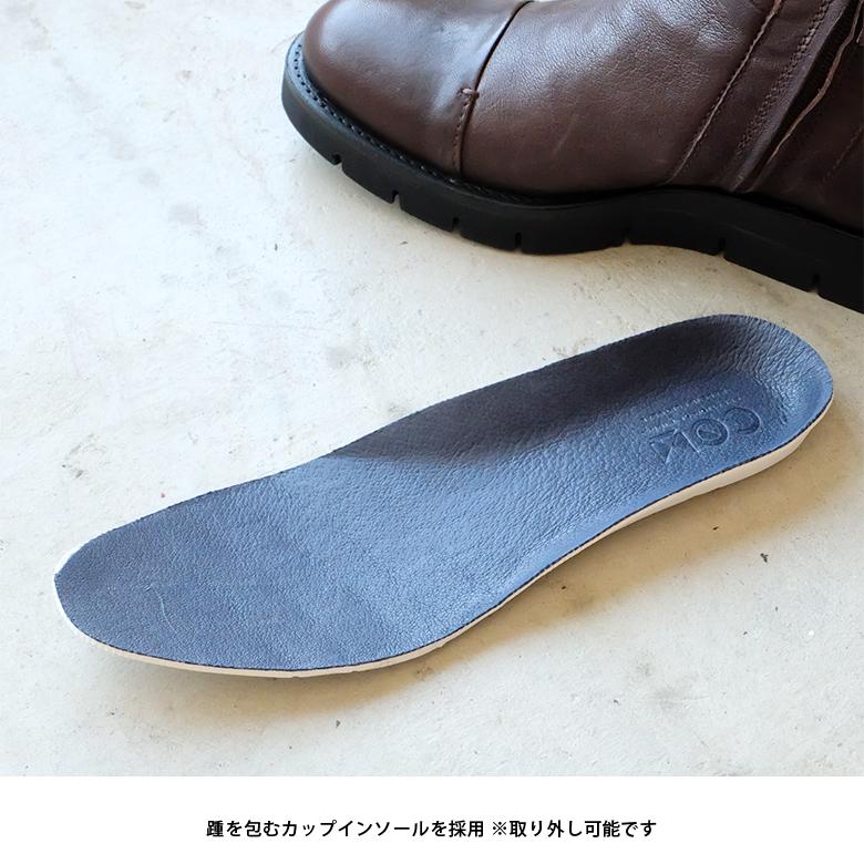 【SALE】COM(コム) ショートブーツ レディース 本革 フラット ボア付き 中ボア 厚底 温かい ファスナー付き(com-miriam3b)インポートシューズ【w1】