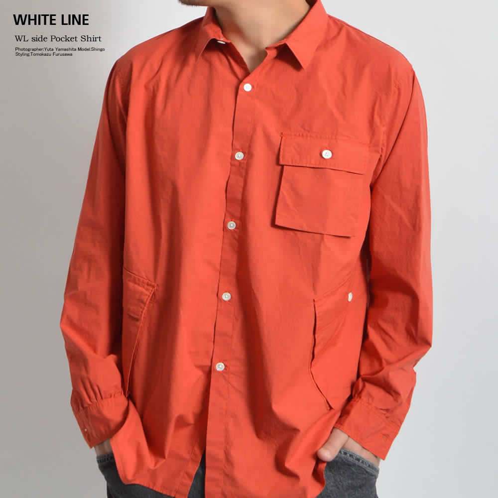 WHITE LINE/ホワイトライン WL side Pocket Shirt