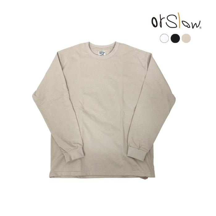 5と0のつく日はポイント15倍 orslow オアスロウ ユニセックス LONG 03-0013 長袖 日本製 即納最大半額 T-SHIRT SLEEVE