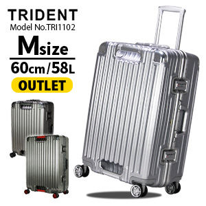 【OUTLET】スーツケース キャリーケースキャリーバッグ Mサイズ 双輪 グリップマスター搭載シフレ トライデント siffler TRIDENT TRI1102 60cm