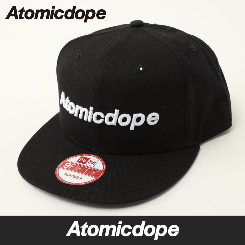 baf4763bc Logo New Era Snapback cap Black snap back Cap Hat Black Atomic dope one  size fits all