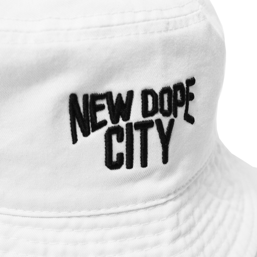 NEW DOPE CITY BACKET HAT White bucket Hat Cap white Atomic dope
